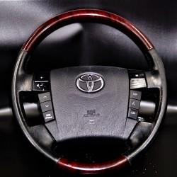 Toyota Land Cruiser 100 4700 FJ100 Prado FJ120 Black Leather Wood Sports Steering Wheel 03 07